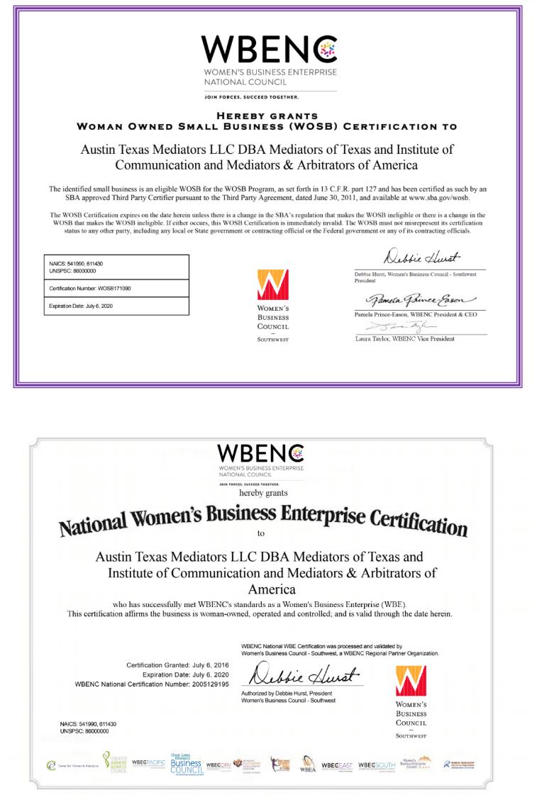 Arbitration Certification Program Ca Department Of >> Mediators Of Texas In Austin Texas
